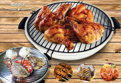 Maspion Fancy Grill Roaster 33 cm Alat Pemanggang Grill BBQ Grill Barbeque Ayam .